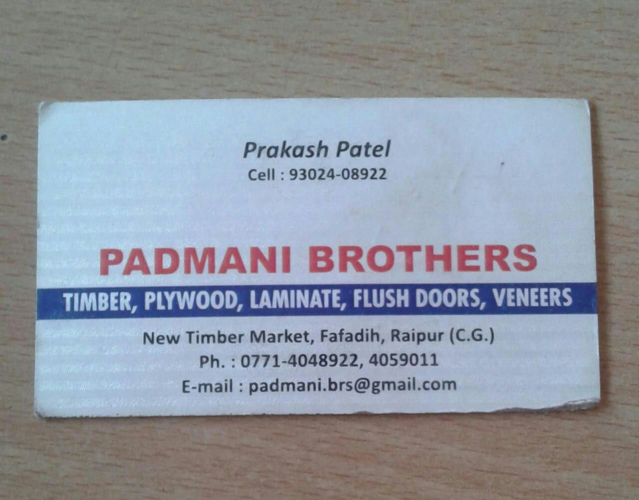 Padmani Brothers Timber Plywood